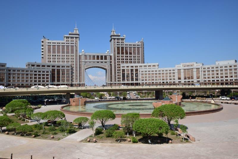 Sièges sociaux de la compagnie KazMunaiGaz à Astana, Kazakhstan images stock