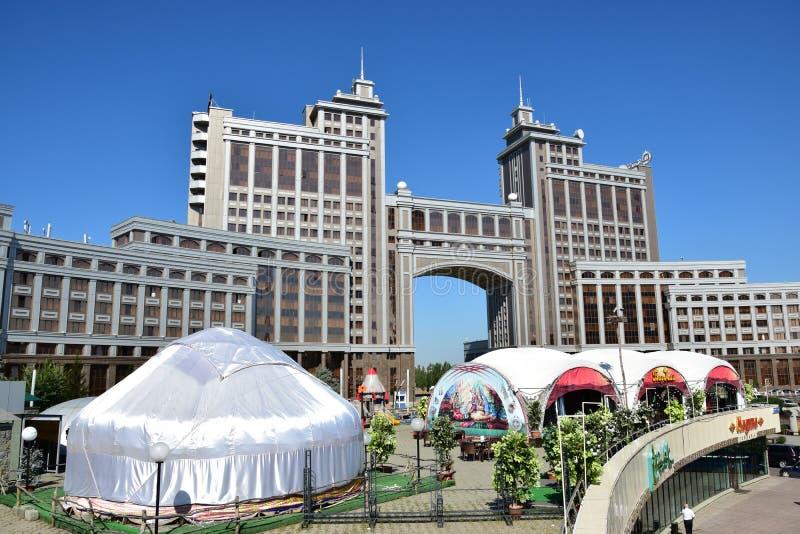 Sièges sociaux de la compagnie KazMunaiGaz à Astana, Kazakhstan photos stock