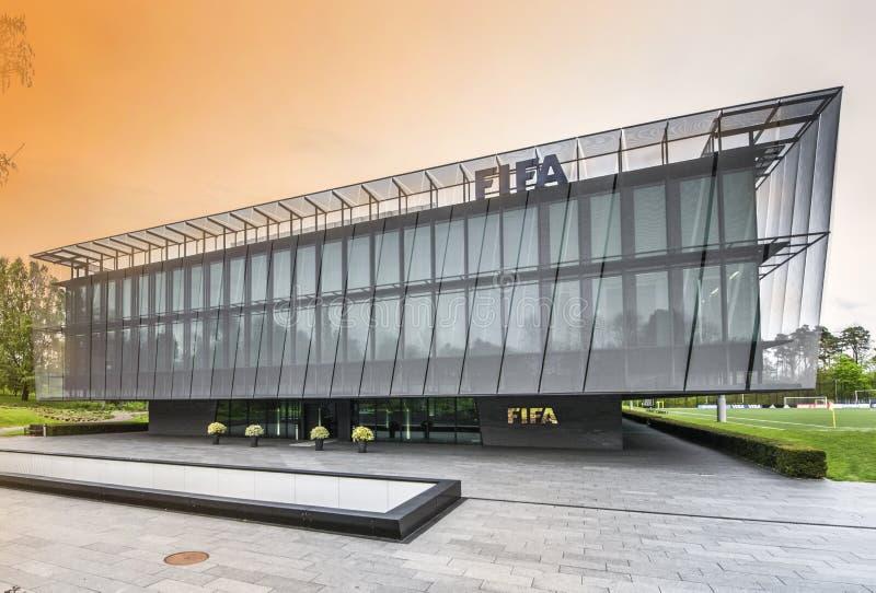 Sièges sociaux de la FIFA à Zurich images libres de droits