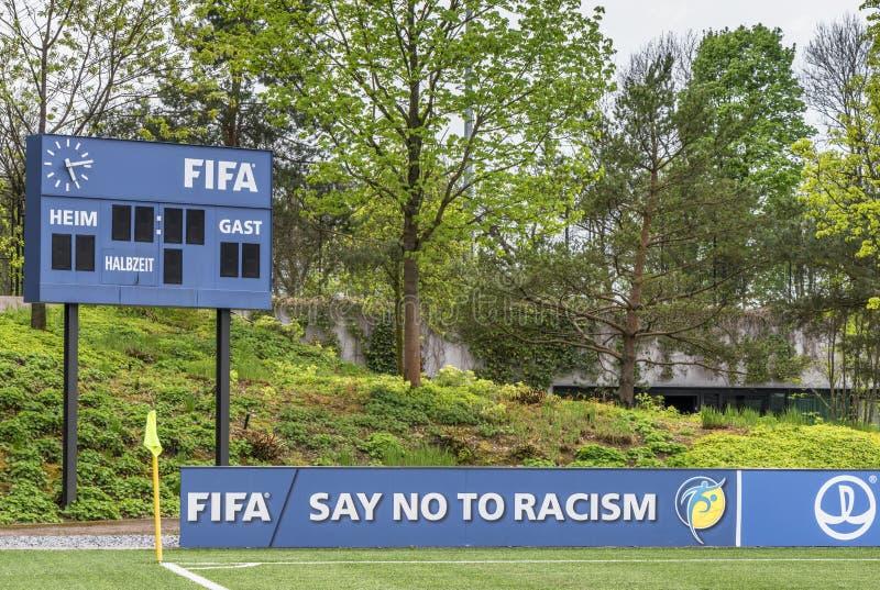 Sièges sociaux de la FIFA à Zurich image libre de droits