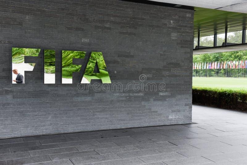 Sièges sociaux de la FIFA à Zurich sur la Suisse photo libre de droits