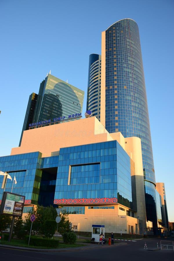 Sièges sociaux de la société KAZAKHSTAN TEMIR ZHOLY de chemin de fer à Astana photographie stock