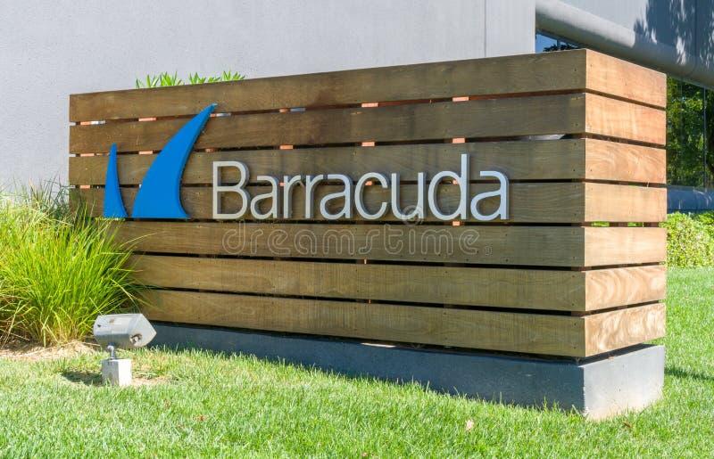 Sièges sociaux et logo de réseaux de barracuda images libres de droits