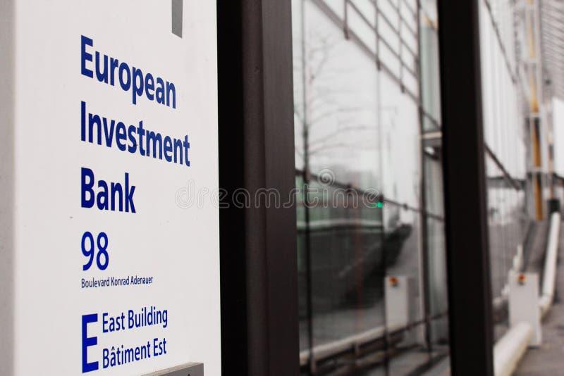 Sièges sociaux européens de la banque d'investissement au Luxembourg photo stock