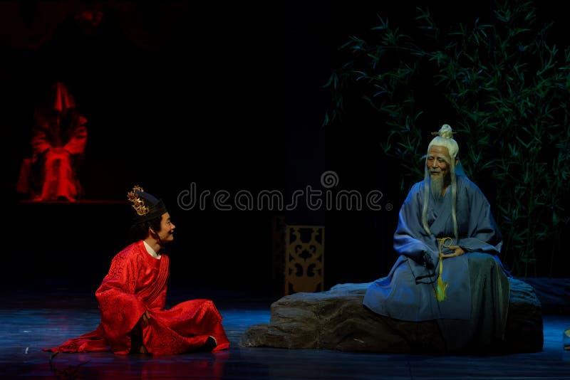 Siéntese y charlatanee sobre el principio- general primero actúan: el drama histórico noche-grande de la nueva boda, ` Yangming ` imagenes de archivo