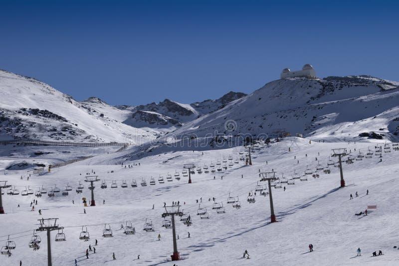 Siërra de skitoevlucht van Nevada royalty-vrije stock foto's