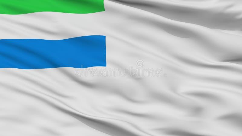 Siërra Leone Naval Ensign Flag Closeup-Mening vector illustratie
