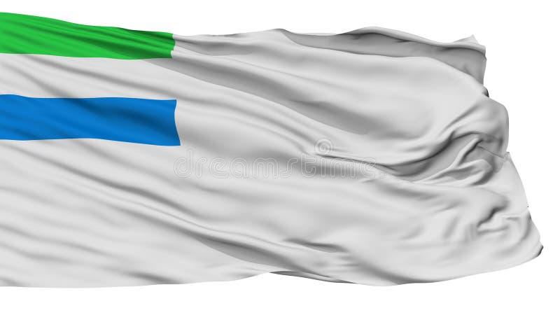 Siërra Leone Naval Ensign Flag, op Wit wordt geïsoleerd dat royalty-vrije illustratie