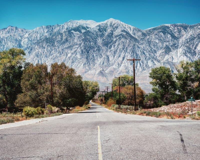 Siërra Nevada California royalty-vrije stock afbeelding