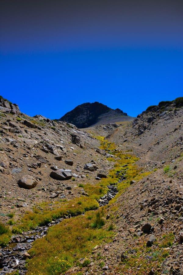 Siërra Nevada Peak in Daling royalty-vrije stock foto's