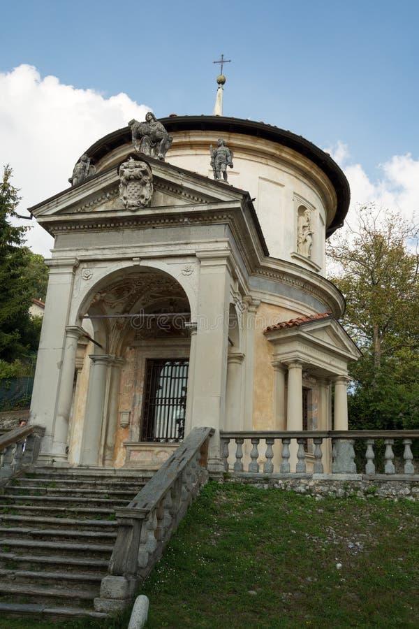 Siódmy kaplica przy Sacro Monte di Varese Włochy obraz royalty free