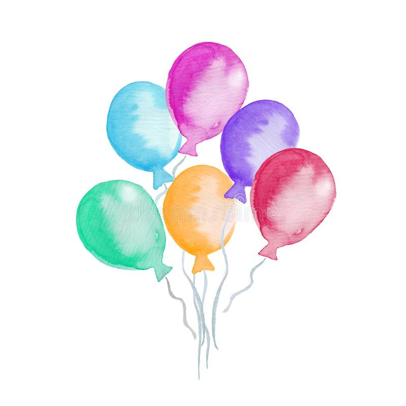 się kolorowego beak dekoracyjnego latającego ilustracyjnego wizerunek swój papierowa kawałka dymówki akwarela ilustracja wektor