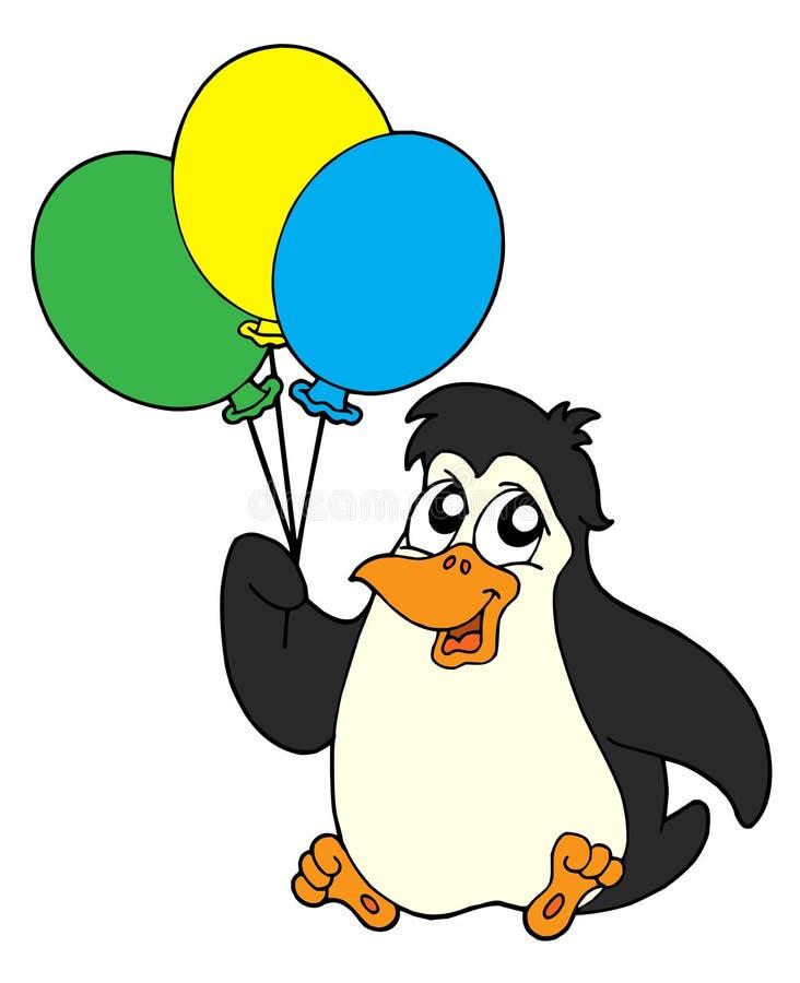 się pingwina ilustracyjnego wektora ilustracja wektor