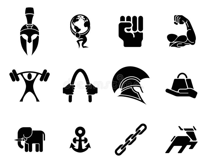 Sił ikony royalty ilustracja