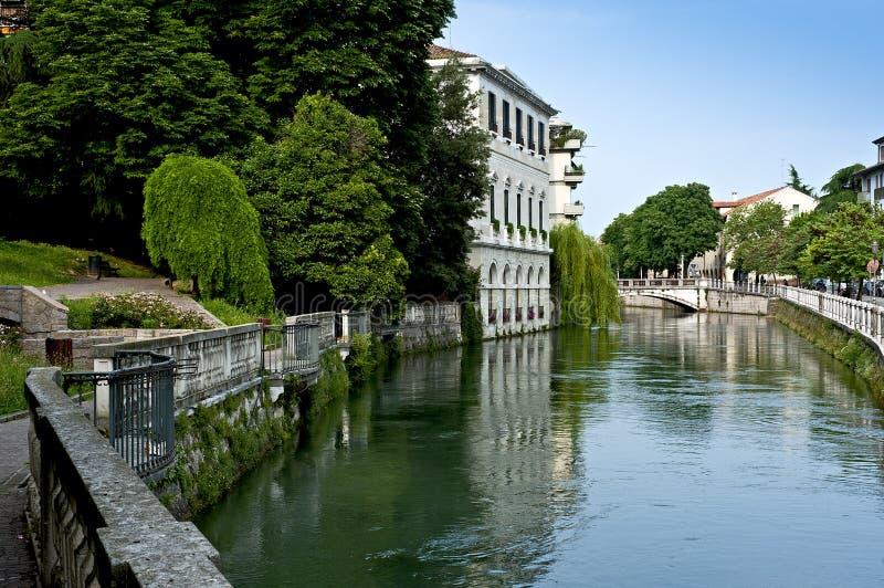 Siła rzeka w Treviso veneto okręg Włochy zdjęcie stock