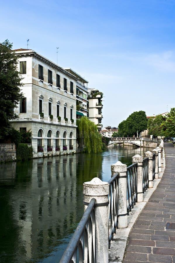 Siła rzeka w Treviso, Veneto okręg Włochy zdjęcie stock