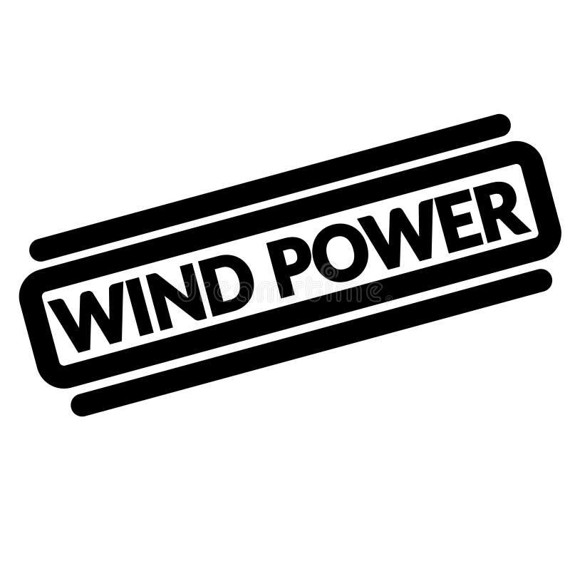 Siła wiatru czerni znaczek ilustracja wektor