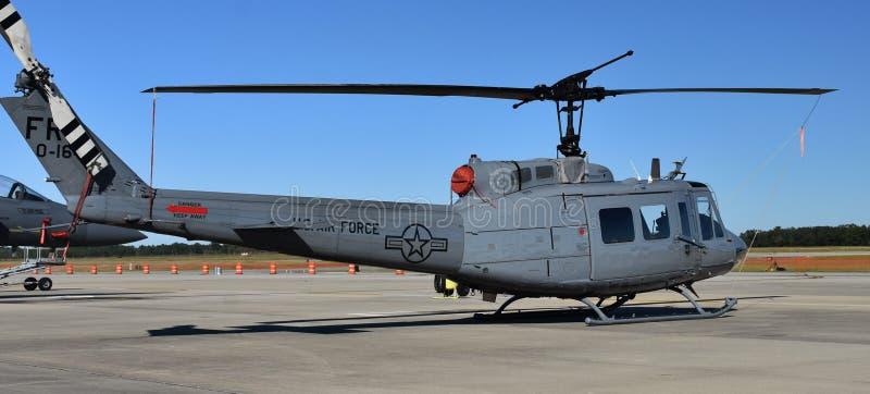 Siły Powietrzne UH-1N Huey helikopter fotografia royalty free