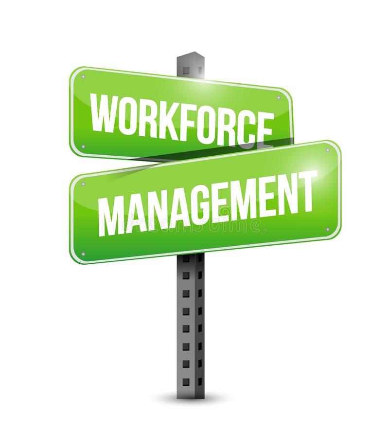 Siły roboczej zarządzania kierunkowskazu ilustracyjny projekt ilustracji