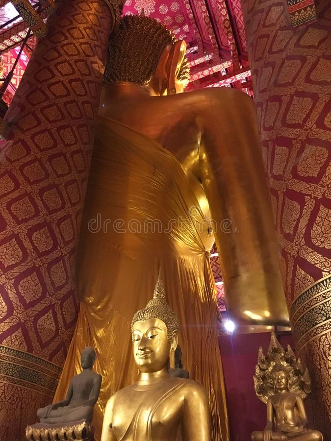 Si Ayutthaya, 27,2019 van Phranakhon Thailand-Januari Wat Phanan Choeng, Ayutthaya royalty-vrije stock fotografie