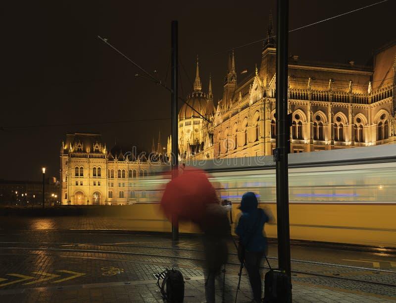 Si Budapest, il ` s seulement la nuit image libre de droits