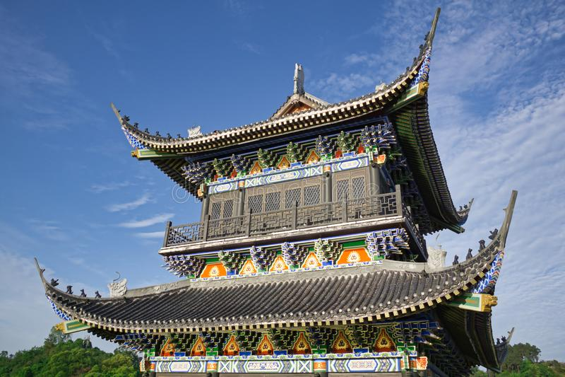 Si Chuan, Cheng Du City in China Een mooie stad, combinatie royalty-vrije stock afbeelding