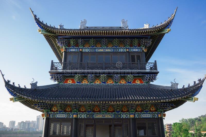 Si Chuan, Cheng Du City in China Een mooie stad, combinatie stock afbeeldingen