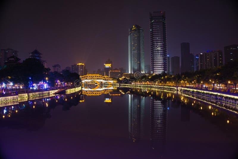 Si Chuan, Cheng Du City in China Eine schöne Stadt, Kombination stockfotos