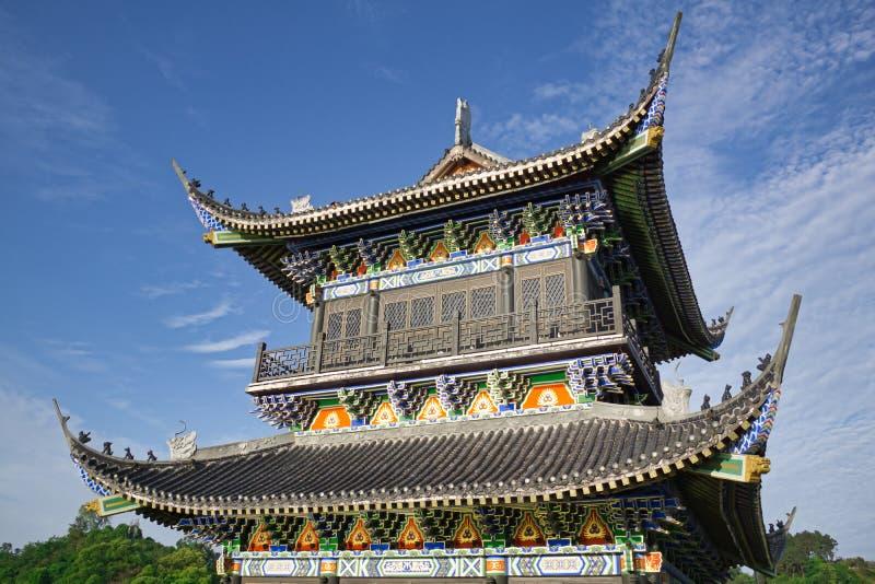 Si Chuan, Cheng Du City in China Eine schöne Stadt, Kombination lizenzfreies stockbild