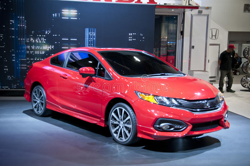 Si 2014 di Honda Civic a SEMA fotografia stock