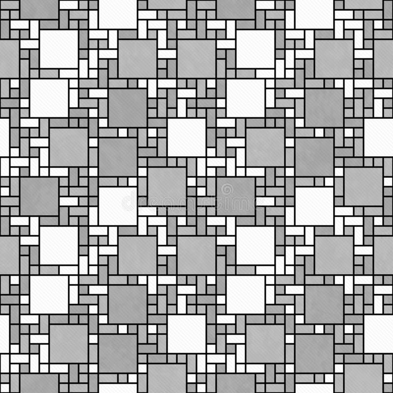 Si do projeto geométrico do sumário do mosaico do quadrado cinzento, branco e preto imagens de stock