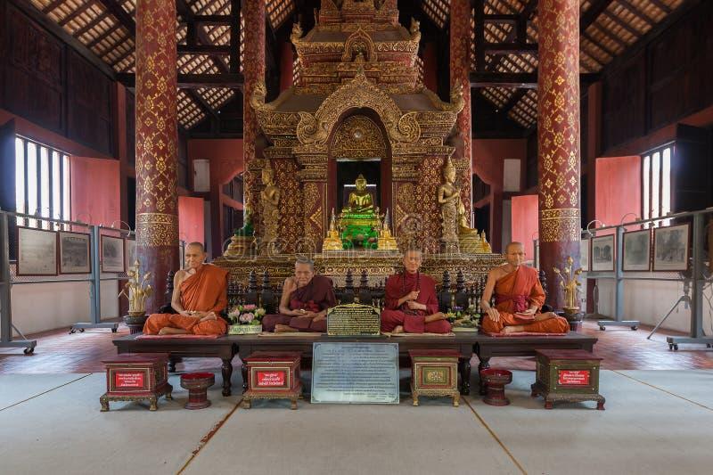 Si Hing, één van Phraboedha van beroemdste Boedha in Thailand, Wat stock afbeelding