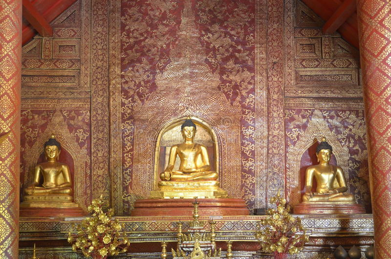 Si Hing van Phraboedha in de tempel royalty-vrije stock afbeelding