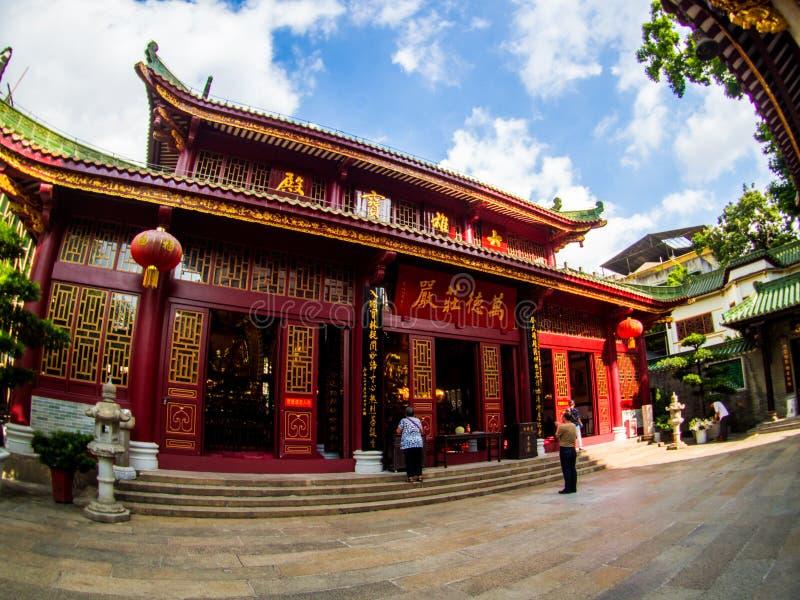 Si, pagoda, świątynia Sześć Banyan drzew, Guangzhou C zdjęcie stock
