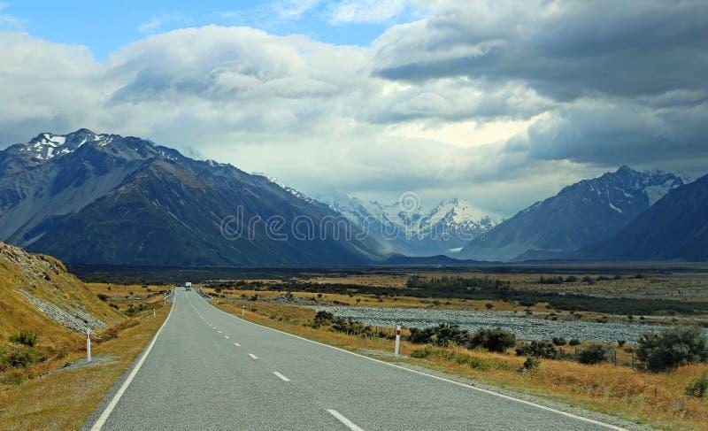 Si rannuvola la valle di Tasman immagine stock