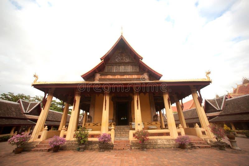 Si Saket Temple a Vientiane, Laos. fotografia stock libera da diritti