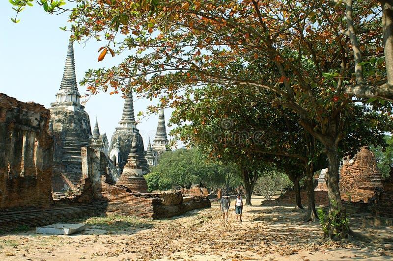 Si Sanphet van Phra van Wat stock afbeeldingen
