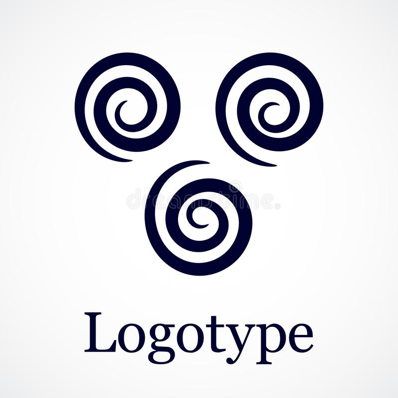 Si sviluppa a spirale il modello, progettazione di contorno Pu? essere usato come logo illustrazione di stock