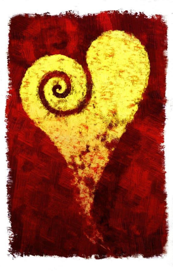Si sviluppa a spiraleare il cuore illustrazione vettoriale
