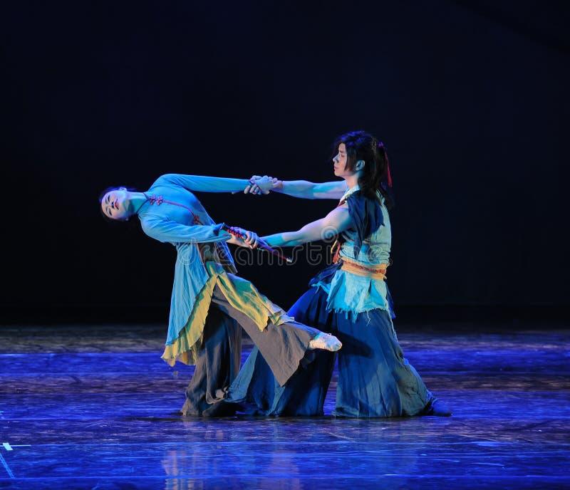 Si usted no abandona, no saldré de drama de la danza del compañero- de la vida la leyenda de los héroes del cóndor imágenes de archivo libres de regalías
