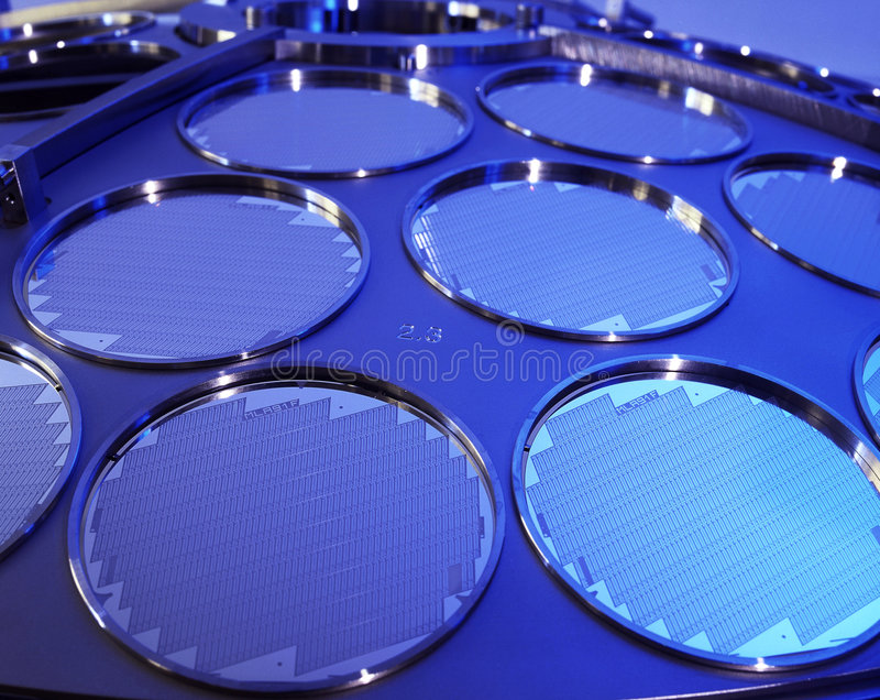 SI Wafers royalty free stock image
