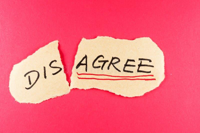 Sia in disaccordo per acconsentiree immagini stock libere da diritti