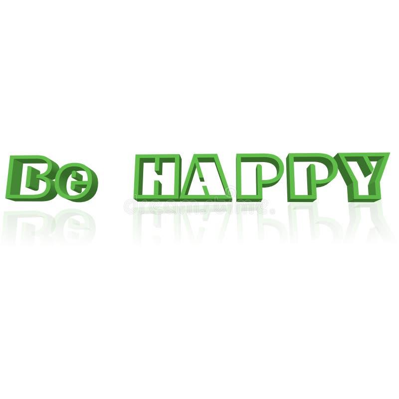 Download Sia felice illustrazione di stock. Illustrazione di bianco - 7323475