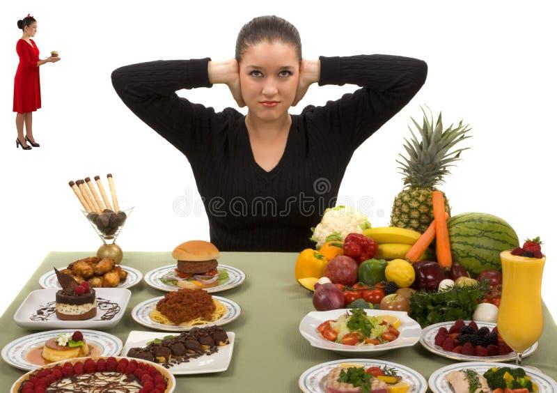 Sia forte e mangi sano fotografia stock
