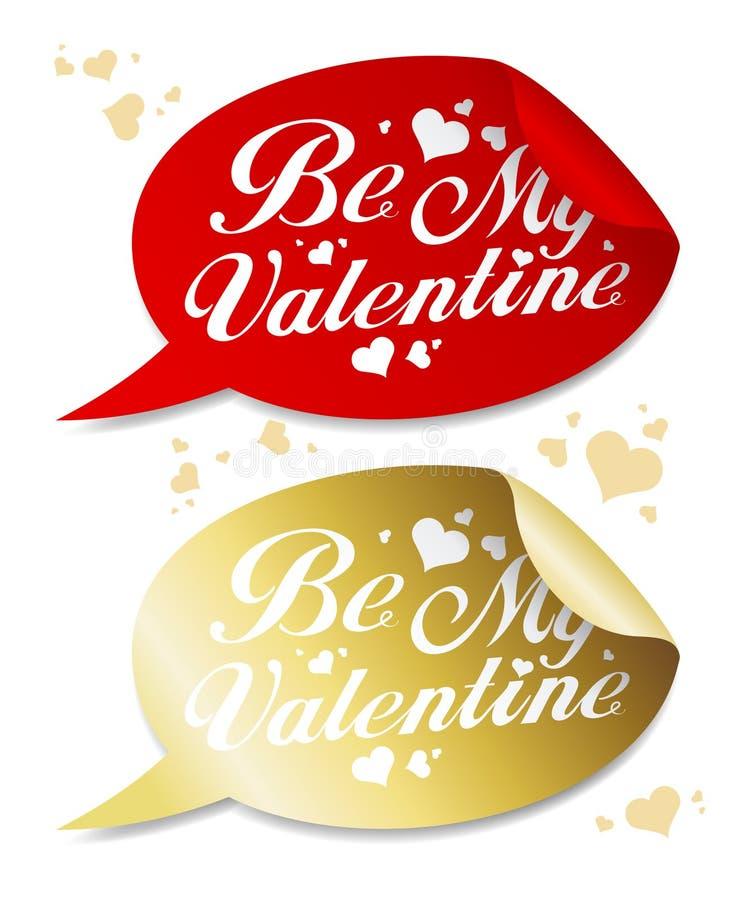 Sia i miei autoadesivi del biglietto di S. Valentino. royalty illustrazione gratis