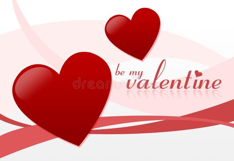 Sia il mio biglietto di S. Valentino illustrazione di stock