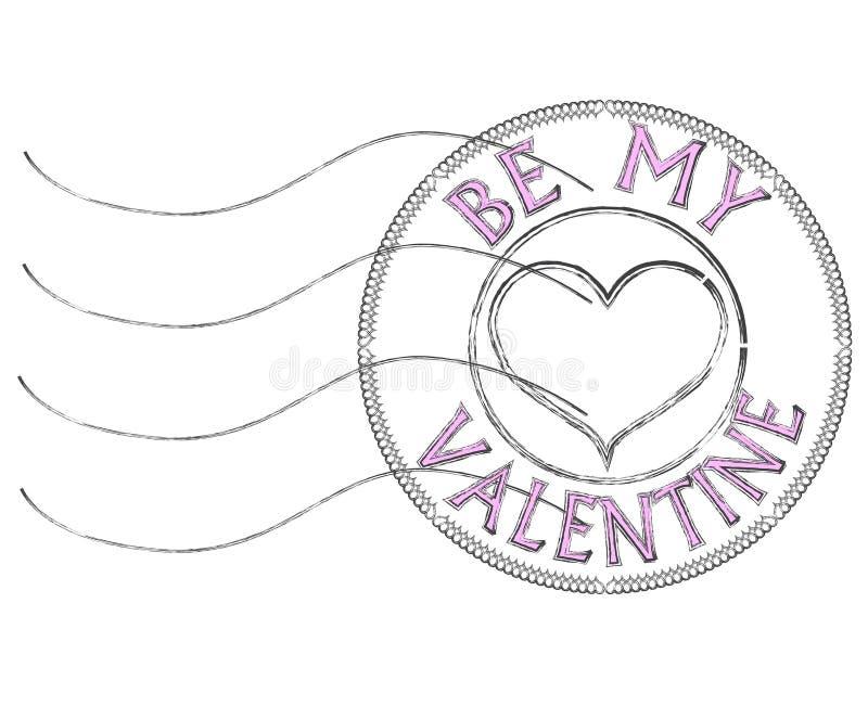 Sia il mio bollo della posta del biglietto di S. Valentino royalty illustrazione gratis