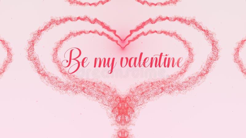 Sia la mia confessione di Valentine Love Cuore di San Valentino fatto della spruzzata di rosa di posa isolata su fondo rosa-chiar immagini stock