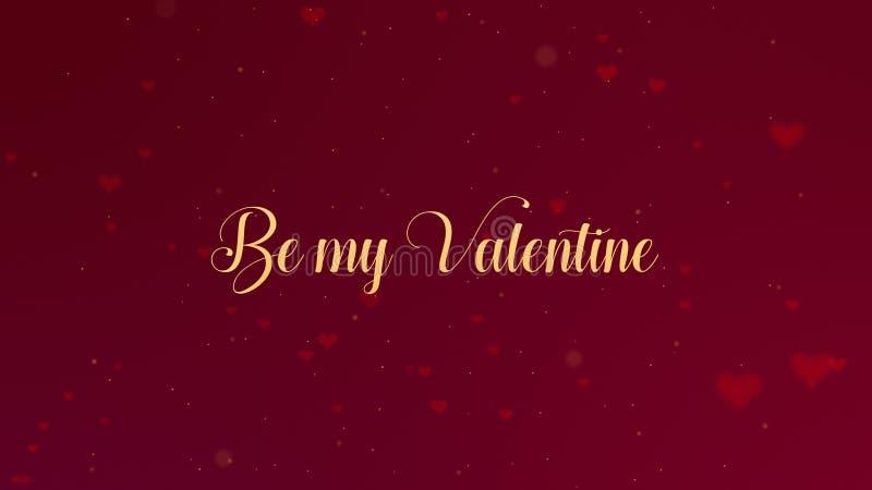 Sia la mia confessione di Valentine Love L'iscrizione di San Valentino ? isolata su fondo rosso, che bedecked con piccolo immagini stock