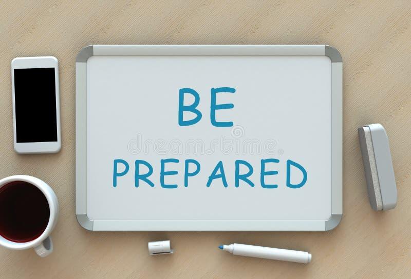 SIA PREPARATO, messaggio sulla lavagna illustrazione vettoriale